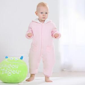 【加拿大童装】gagoutagou秋冬季婴儿连体衣哈衣加绒加厚保暖衣服新生儿宝宝爬爬服
