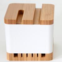 当当优品 橙舍竹木质多功能办公用品桌面收纳盒 创意笔筒文具杂物整理盒 B款