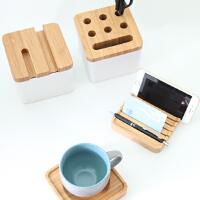 当当优品 橙舍竹木质多功能桌面收纳盒