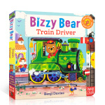 英文原版 新版Bizzy Bear 小熊很忙系列绘本 Train Driver 忙碌的火车司机 亲子玩具书机关操作纸板