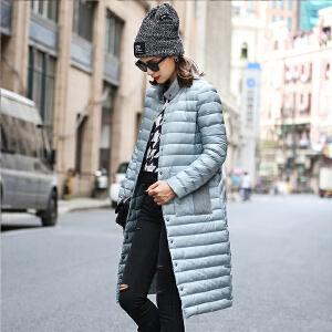 2017女士秋冬新款韩版女士羽绒服 轻薄百搭外套