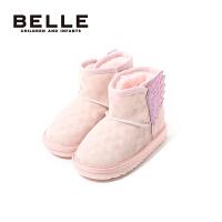 【199元任选2双】百丽童鞋儿童雪地靴冬季保暖靴子女孩时尚靴子特惠
