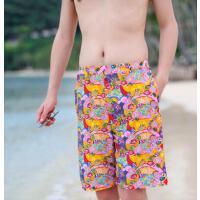 新款度假男士泳裤五分温泉宽松时尚沙滩裤透气情侣速干游泳裤 支持礼品卡