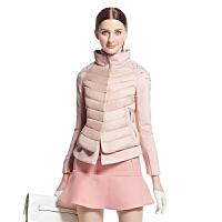 ERAL/艾莱依冬装韩版短款修身保暖型假两件女羽绒服时尚外套2021D