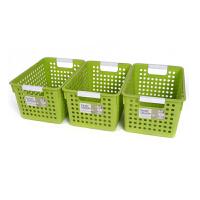[当当自营]禧天龙Citylong 中号塑料收纳筐3个装 7103 草绿 桌面收纳盒