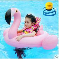 儿童泳圈座圈加厚充气宝宝游泳玩具装备泳衣圈送打气筒火烈鸟坐骑可礼品卡支付