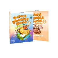 进口英文原版 OXFORD PHONICS WORLD 2 牛津自然拼读教材+练习册合售