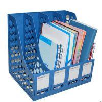 齐心文件座 文件架 B2114四联文件框 资料架文件栏四格文件筐