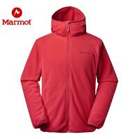 Marmot/土拨鼠2019秋冬新款户外运动休闲弹力保暖男开衫夹克抓绒衣