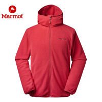Marmot/土拨鼠2020新款户外运动休闲弹力保暖男开衫抓绒衣