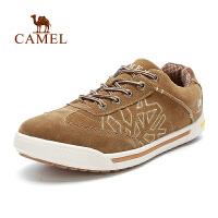 camel骆驼户外鞋 反绒皮男鞋 系带休闲鞋子