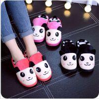 棉拖鞋冬可爱卡通熊猫棉鞋 居家情侣时尚家居室内保暖棉拖鞋