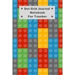 预订 Dot Grid Journal Notebook For Teacher: Dotted Grid Black