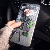 【支持礼品卡】新款韩国玫瑰花苹果7plus手机壳iphone6s套6plus硅胶软壳挂绳女潮