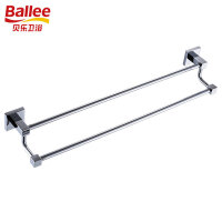 贝乐BALLEE G6210-1全铜双杆毛巾杆浴室挂件浴巾架 60cm