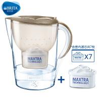 碧然德(BRITA) 过滤净水器 家用滤水壶 净水壶 星光 Marella3.5L璀璨金 1壶7芯