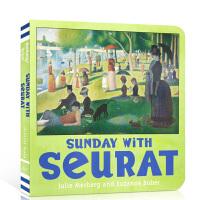 英文原版 Sunday with Seurat 和瑟拉在一起的星期天 Mini Masters 小小艺术家系列 儿童艺