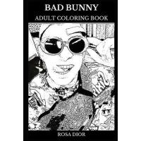 预订 Bad Bunny Adult Coloring Book: Latin Reggaeton Legend an