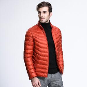 坦博尔秋冬季新品短款轻薄羽绒服男韩版潮立领羽绒衣外套男TA3225