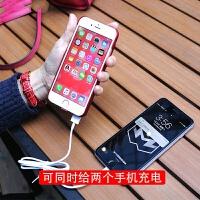 2018新款 便携iphone7背夹充电宝电池苹果6plus手机壳6s薄卡通移动电源8p 黑怪兽【 4.7寸】6800