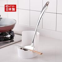 inomata日本进口菜板饭勺架锅盖架多功能厨房置物架整理架子