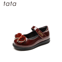 【159元任选2双】tata他她童鞋秋季儿童幼儿单鞋黑色礼仪鞋宝宝女童皮鞋公主鞋(1-3岁可选)W80574