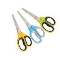 得力6046剪刀 彩色手柄剪刀 办公 家居生活剪刀 裁纸剪刀 不锈钢