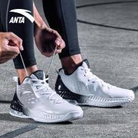 安踏男鞋篮球鞋2017秋季新款高帮运动鞋减震耐磨气垫比赛篮球战靴