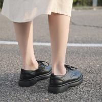 小皮鞋女英伦风黑色2019秋季学生学院风复古单鞋平底