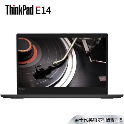 联想ThinkPad E14(01CD)14英寸商用轻薄笔记本电脑(i5-10210U 8G 1TB 集显 FHD Win10) 内存可升级,支持双硬盘,高效办公利器!
