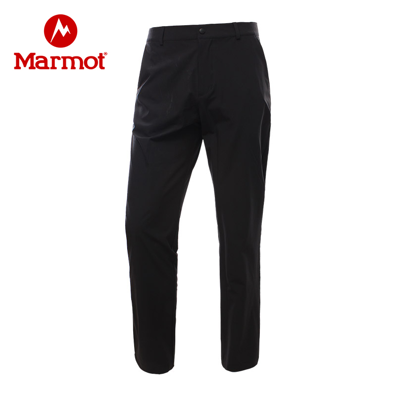 Marmot/土拨鼠春夏新款户外运动男士弹力薄款速干长裤 VIP专享96折