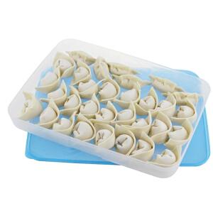 特百惠 冷冻保鲜盒1.3L饺子盒馄饨盒冰箱专用收纳冷冻冷藏储藏盒单个