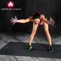 杰朴森高强度防滑减震insanity跳操垫瑜伽垫黑垫运动健身垫