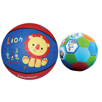 【当当自营】费雪(Fisher Price)儿童玩具球二合一 (7寸篮球狮子+儿童足球13cm 赠送打气筒)