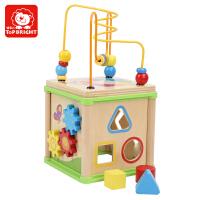 【1件9折2件8】】特宝儿 1-3岁宝宝益智串珠绕珠多功能四面体百宝箱儿童玩具
