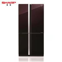 Sharp/夏普 SJ-GX79F-R 变频十字对开门风冷无霜原装进口零度冰箱