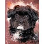 预订 Cute Black Maltese Dog Composition Notebook, Blank Sketc