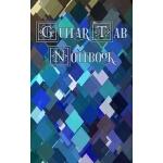 预订 Guitar Tab Notebook: Peacock Squares, Blue, Green and Ta