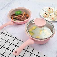 宝宝辅食锅婴儿煎煮蒸一体多功能麦饭石不粘锅儿童煮粥小奶锅炖锅
