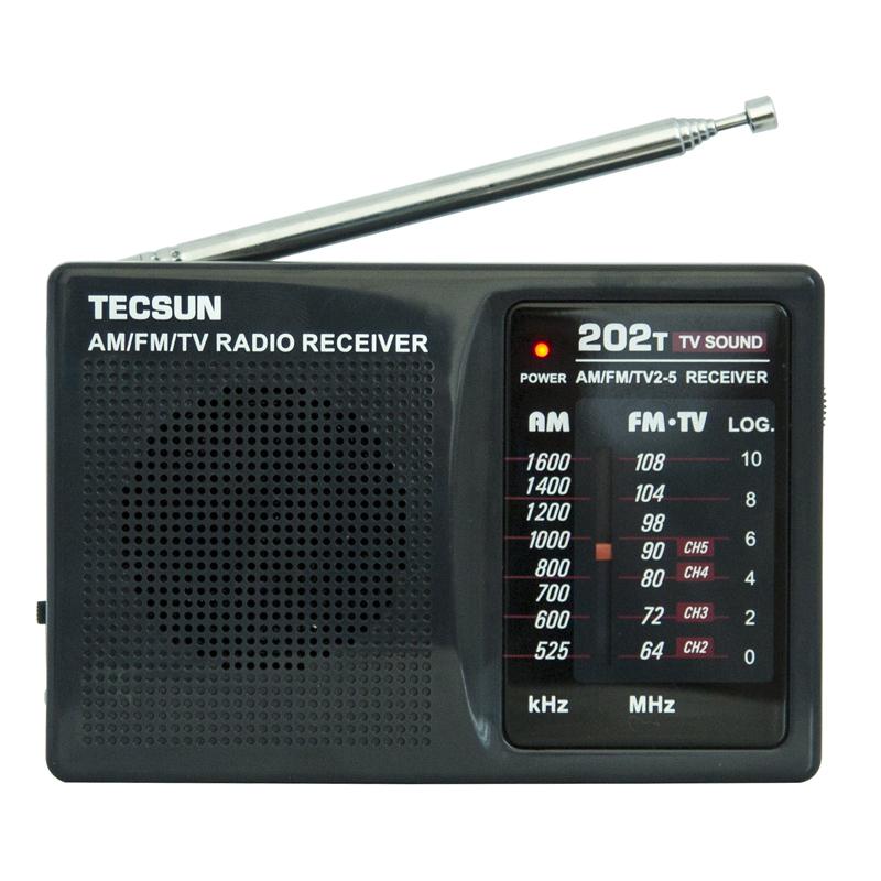德生 R-202T袖珍式调频 老人学生收音机 调幅收音机校园广播频率  英语四六等级考试电视伴音