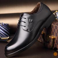 宜驰 EGCHI 商务休闲男士正装耐磨加绒棉保暖男士皮鞋子 K1667