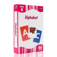 进口英文 Alphabet Flash Kids Flash Cards字母学习启蒙游戏卡 0-3岁