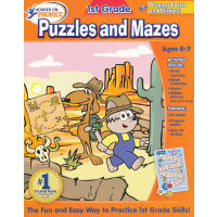 Hooked on Learning First Grade Puzzles and Mazes Workbook迷上