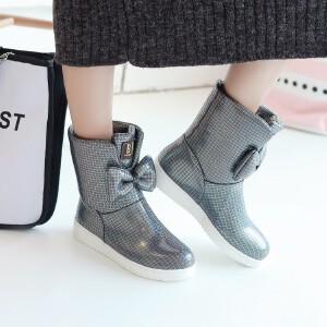 O'SHELL欧希尔新品119-160学院女士亲子雪地靴