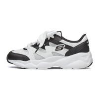 【*注意鞋码对应内长】Skechers斯凯奇女鞋校园青少年鞋 甜美丝带小白鞋熊猫鞋 66666203