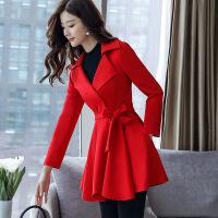 风衣女中长款韩版春秋款2018新款韩国收腰气质修身英伦风裙式外套