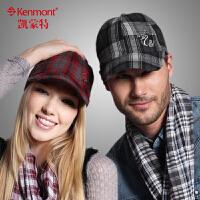 kenmont帽子男士四季女户外情侣帽棒球帽韩版潮鸭舌帽2201