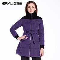 ERAL/艾莱依冬装加厚韩版长袖轻薄羽绒服女中长款修身16027-EDAA