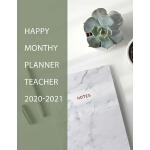 预订 Happy Monthy Planner Teacher 2020-2021: Happy 2 Years No