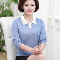 中老年女装秋装40-50岁打底羊毛衫大码妈妈装时尚针织衫长袖上衣